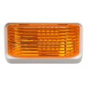 Diamond White LED Amber Lens Porch Light without Switch