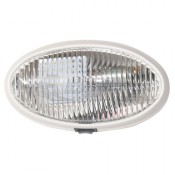 Diamond LED White Oval Clear Lens Porch Utility Light with Switch