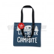 CAMCO Life is Better at the Campsite Blue & White Tote Bag