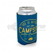 CAMCO Life is Better at the Campsite Navy & Yellow Seal Can Holder