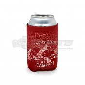 CAMCO Life is Better at the Campsite Burgundy Sunrise Can Holder