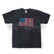 CAMCO Life is Better at the Campsite Charcoal Patriotic Shirt