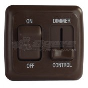 Diamond Brown On/Off Switch with Dimmer