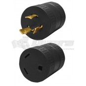 30 Amp Female to 30 Amp 3-Prong Twist-Lock Adapter