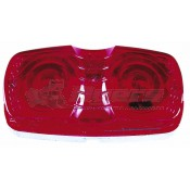 Peterson #138 Rectangle Red Clearance Light