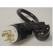 30 Amp Female to 30 Amp Locking 4-Prong Male