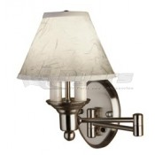 Gustafson Satin Nickel Shaded Swing Arm Sconce