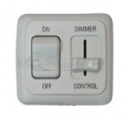 Diamond White On/Off Switch with Dimmer
