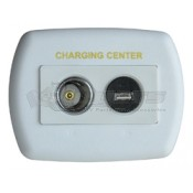 Diamond White USB/12V Charger Wallplate