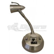Gustafson Satin Nickel Gooseneck Map Light