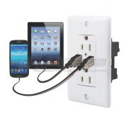 Diamond White Dual USB Dual AC Charger Oulet