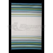 Faulkner 9' x 12' Aqua/Navy/Lime/White Deluxe Multi-Purpose Mat