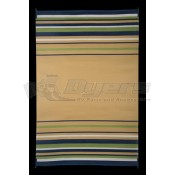 Faulkner 9' x 12' Navy/White/Lime/Beige Deluxe Multi-Purpose Mat