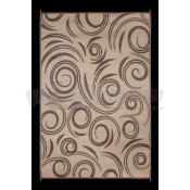 Faulkner 8' x 20' Brown/Beige Reversible Swirl Deluxe Multi-Purpose Mat