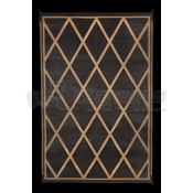 "Faulkner 8' x 20"" Black/Beige Reversible Deluxe Multi-Purpose Mat"