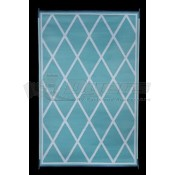 Faulkner 8' x 20' Turquoise/White Reversible Deluxe Multi-Purpose Mat