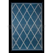 Faulkner 8' x 20' Blue/Ivory Reversible Deluxe Multi-Purpose Mat