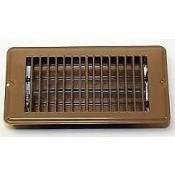 "AP Products Brown 4"" x 8"" Floor Register"
