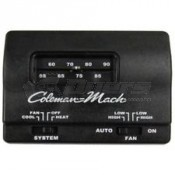 Coleman Black Wall Thermostat; Cool Only