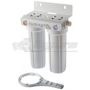Watts Dual Ultimate Exterior In-Line Water Filter System.
