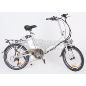 "Faulkner 6-Speed Folding Electric Bicycle 20"" Inch Rim"