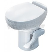 Thetford White Aqua Magic Residence High Profile Foot Flush Toilet