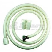 "Relaqua White 60"" Shower Hose with Wall Mount"