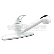 Phoenix White Kitchen Faucet with Pullout Sprayer