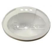 "LaSalle Bristol 17"" x 20"" White Drop-in Plastic Oval Lavatory Sink"