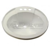"LaSalle Bristol 17"" x 20"" Ivory Drop-in Plastic Oval Lavatory Sink"