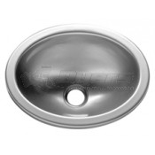 "LaSalle Bristol 10"" x 13"" Stainless Steel Oval Lavatory Sink"