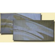 Patio Mats 8' x 16' Silver/Gold Swirl Reversible Mat