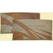 Patio Mats 8' x 16' Tan/Gold Flare Reversible Mat