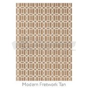 Ruggable 5' x 7' Modern Fretwork Tan Polyester Two Piece Rug System