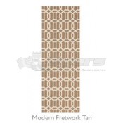 Ruggable 2-1/2' x 7' Modern Fretwork Tan Polyester Two Piece Rug System