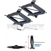 "Ultra-Fab 24"" 5,000lb Scissor Stabilizer Jack - 2 Pack"