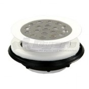 "JR 2"" White Plastic Grid Shower Strainer"