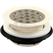 "JR 2"" Parchment Plastic Grid Shower Strainer"