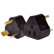 Valterra 30 Amp M to 15 Amp F Molded Adapter