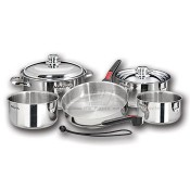 Magma 18-10 Stainless Steel Nesting Cookware 10-Piece Set