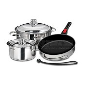 Magma 18-10 Stainless Steel W/ Ceramica® Non-Stick Nesting Cookware 7-Piece Set