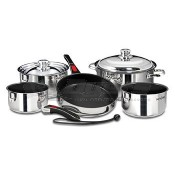 Magma 18-10 Stainless Steel W/ Ceramica® Non-Stick Nesting Cookware 10-Piece Set