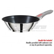 Magma Professional Series 18-10 Stainless Steel/Slate Black Induction Compatible Omelette/Sauté Pan