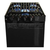 "Atwood Sealed Burner Black 3-Burner 17"" Range"