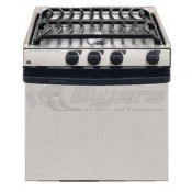 "Atwood Sealed Burner Stainless Steel 3-Burner 21"" Range"