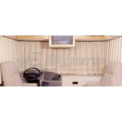 "RV Designer Beige 130"" to 190"" Pleated Windshield Curtain"