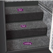 Prest-O-Fit Black Granite Step Hugger for Stair Step