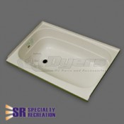 "Specialty Recreation 24"" x 36"" Left Hand Center Drain Parchment Bathtub"