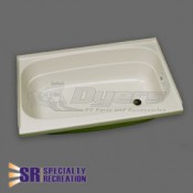 "Specialty Recreation 24"" x 46"" Right Hand Center Drain Parchment Bathtub"