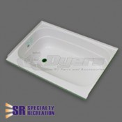 "Specialty Recreation 24"" x 36"" Left Hand Center Drain White Bathtub"